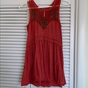 Free People Beaded Tank Blouse XS